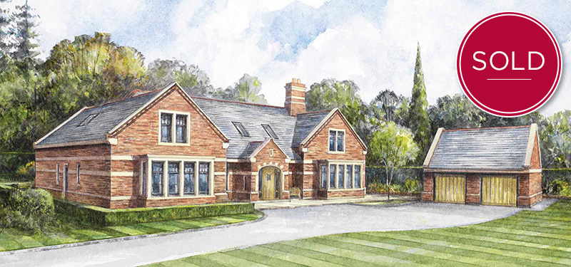 Exterior view of the bespoke Meadow Cottage 5-bedroom bespoke dormer bungalow
