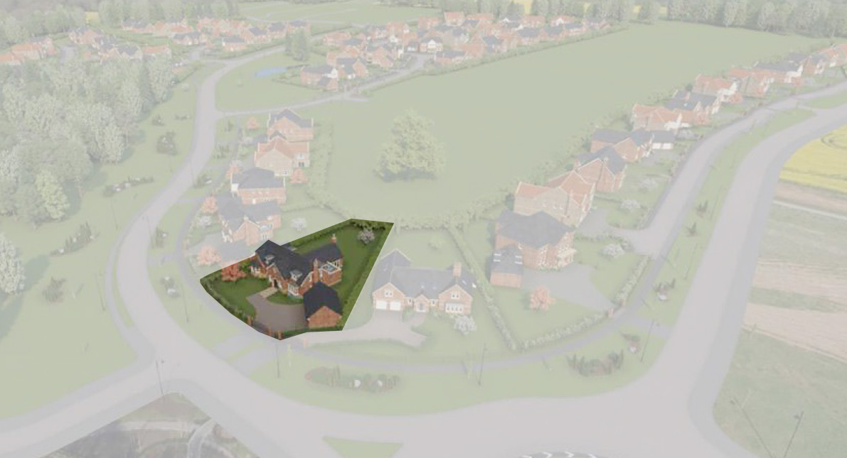 Aerial view of Poppy Cottage 4-bedroom detached dormer bungalow